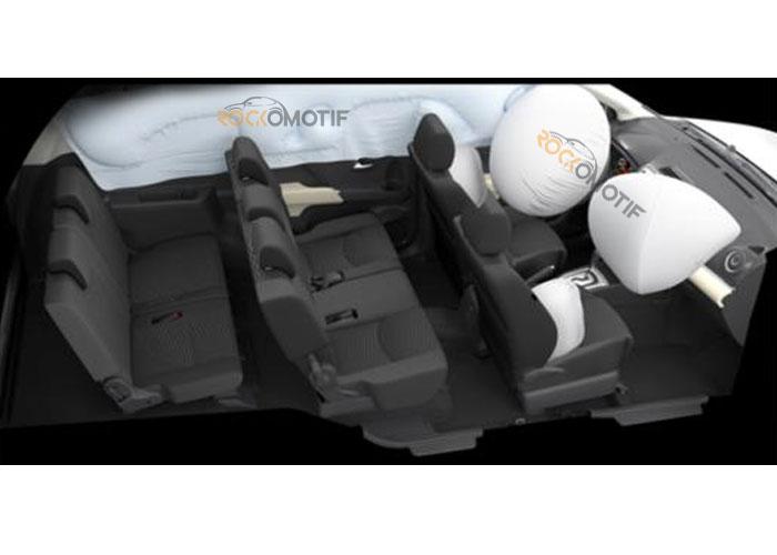 6 buah airbag untuk tipe all new Rush