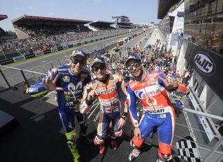Valentino Rossi podium le mans