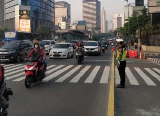 lalu lintas dki jakarta masa transisi psbb