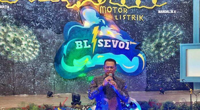 Ketua Umum IMI, Bamsoet, apresiasi motor listrik BL-SEV01