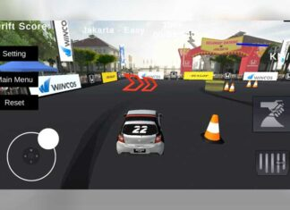 Game balap Honda Brio Vritual Drift Challenge 2021